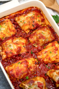 image of baked stuffed cabbage rolls