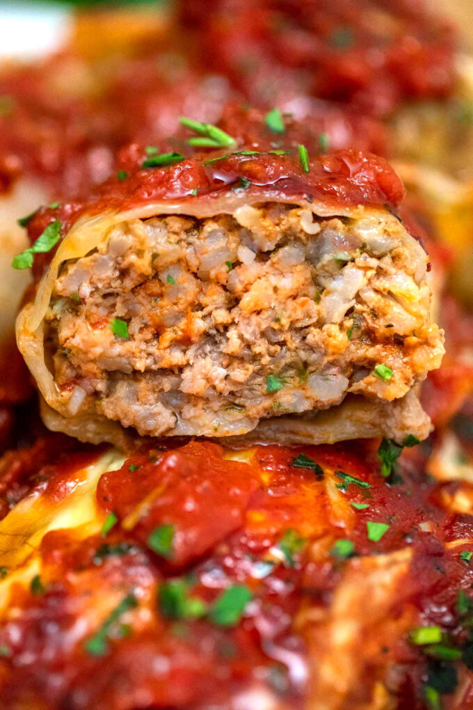photo of stuffed cabbage roll