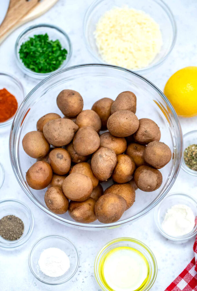 image of potatoes and seasoning