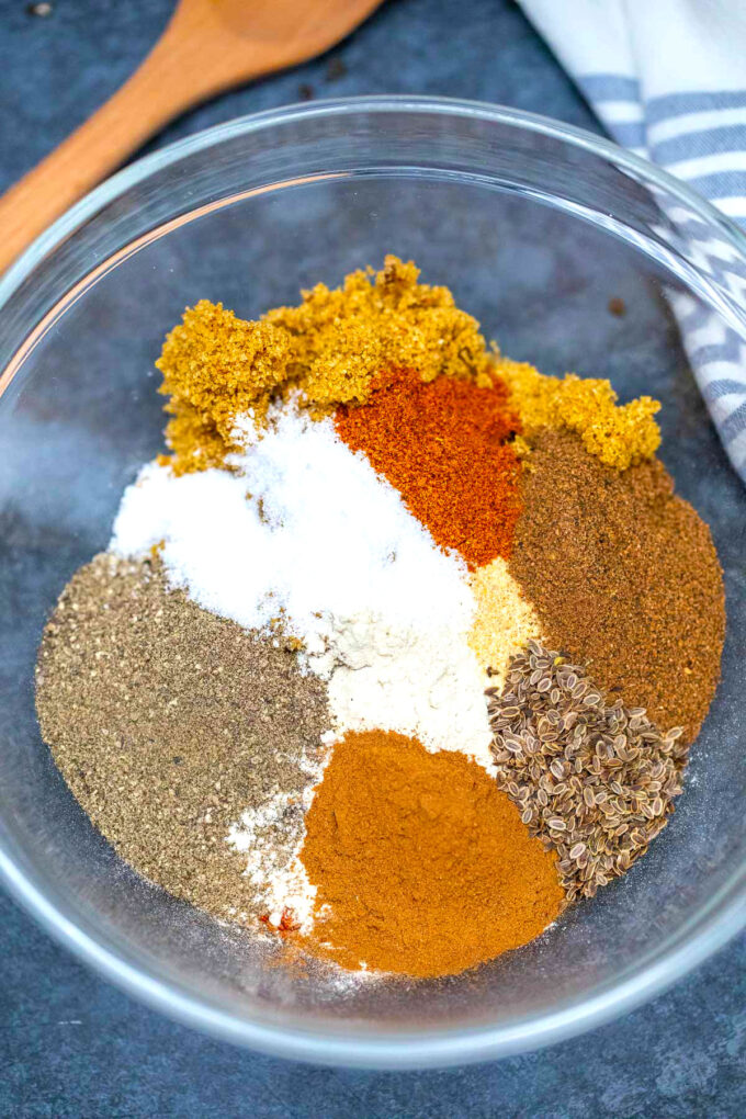 image of spices for bbq rub