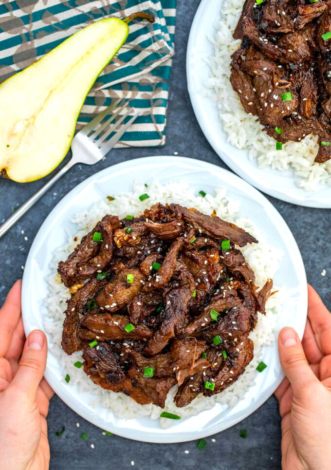 Photo of Beef Bulgogi on rice.