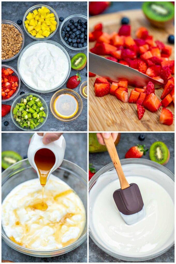 photo of ingredients for homemade yogurt parfaits