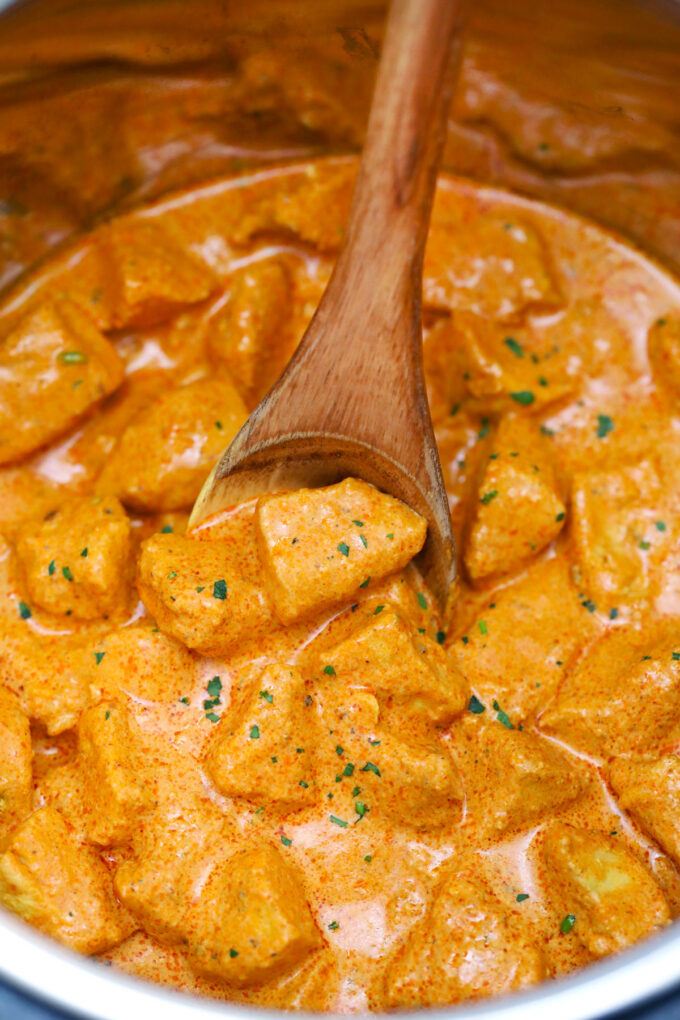 photo of instant pot butter chicken