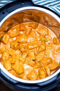 photo of pressure cooker butter chicken