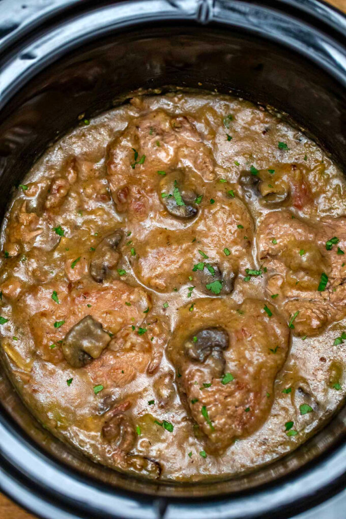 photo of slow cooker Swiss steak