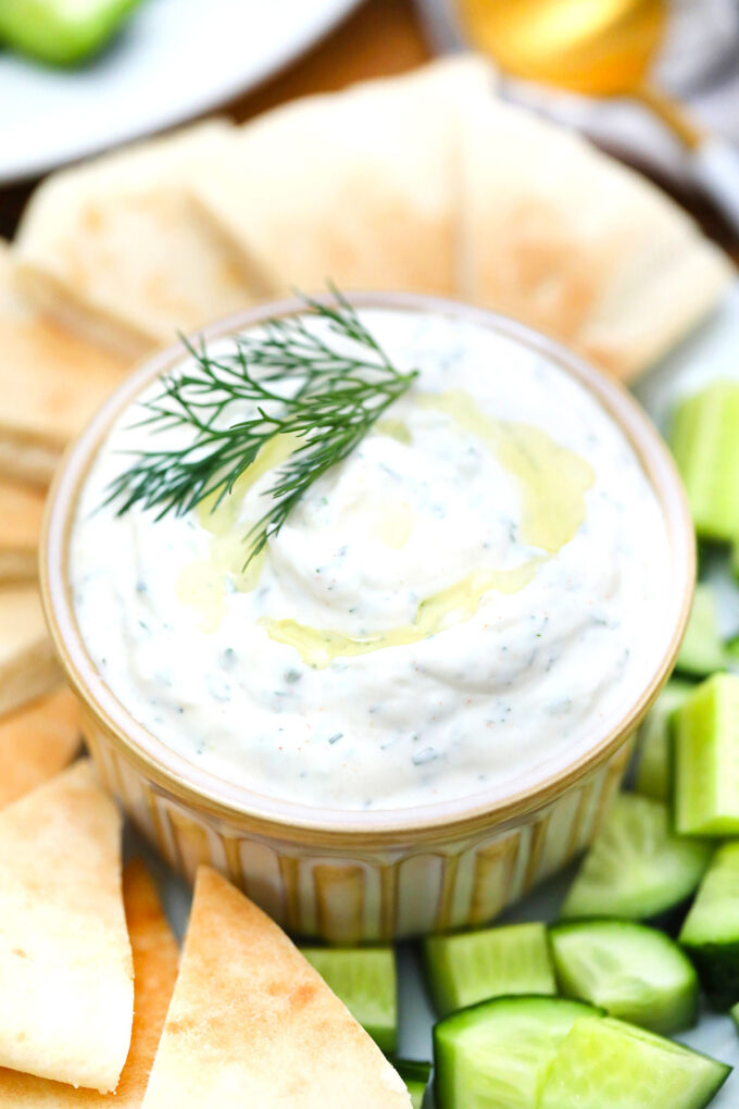 image of homemade tzatziki sauce