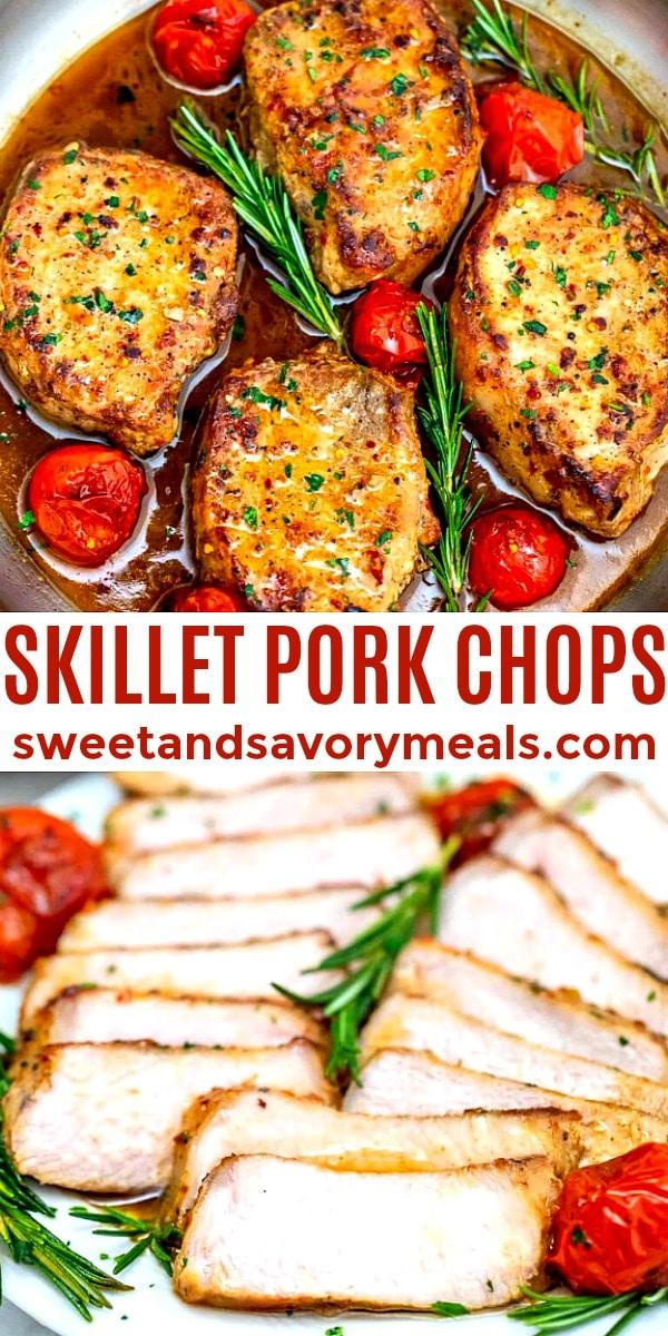 Picture of skillet pork chops.