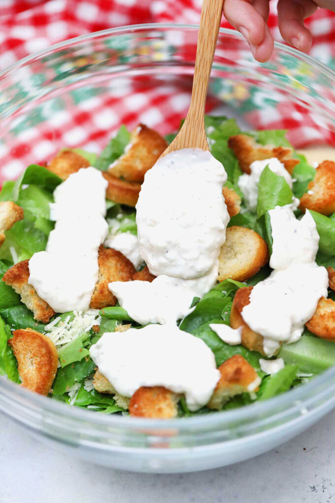 Image of homemade Caesar Dressing.
