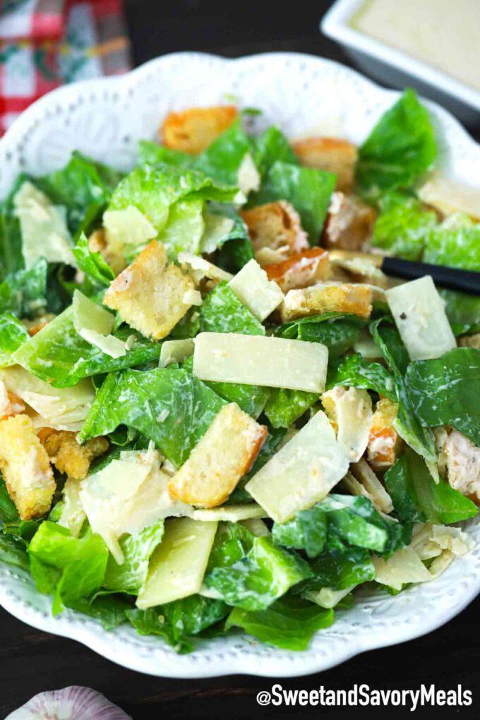 tossed Caesar salad