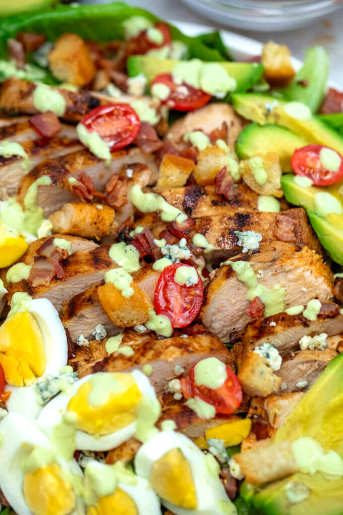 Photo of Cobb salad.