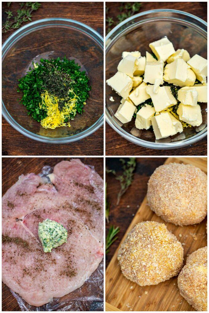 Image of how to make chicken Kiev recipe.