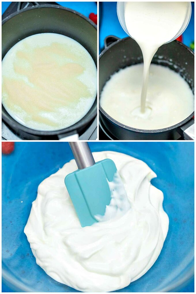 Image of how to make Panna Cotta.
