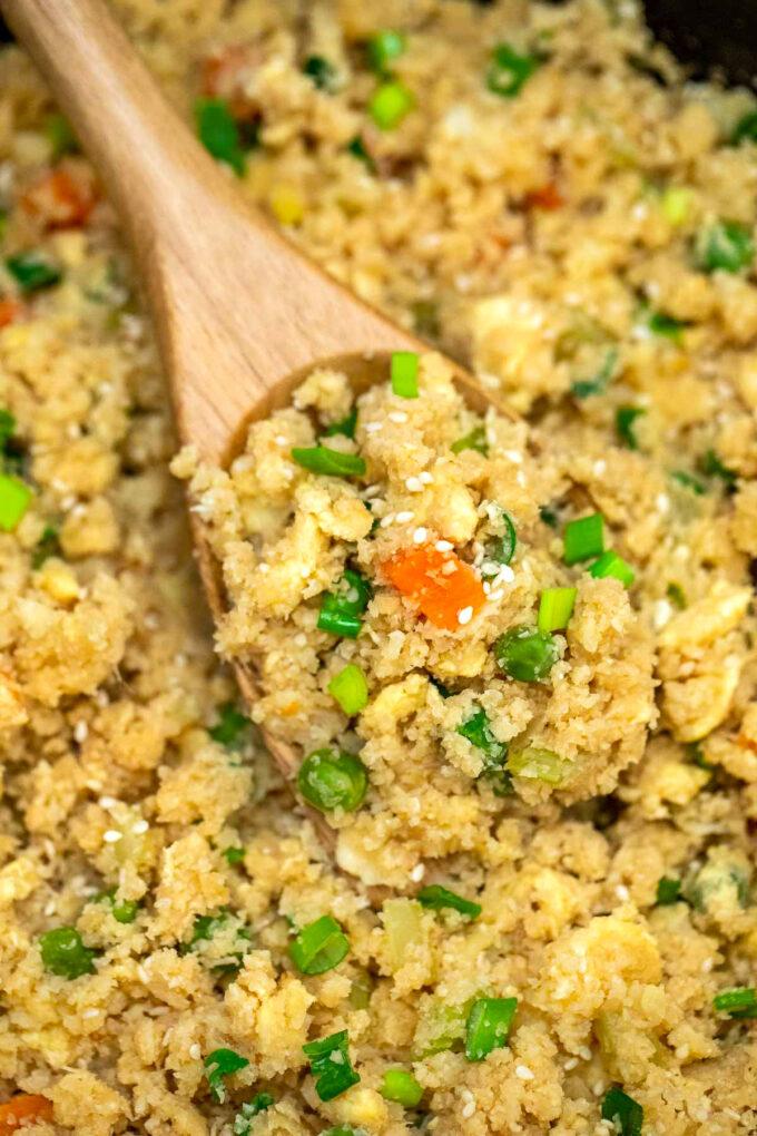 Image of Keto cauliflower rice.