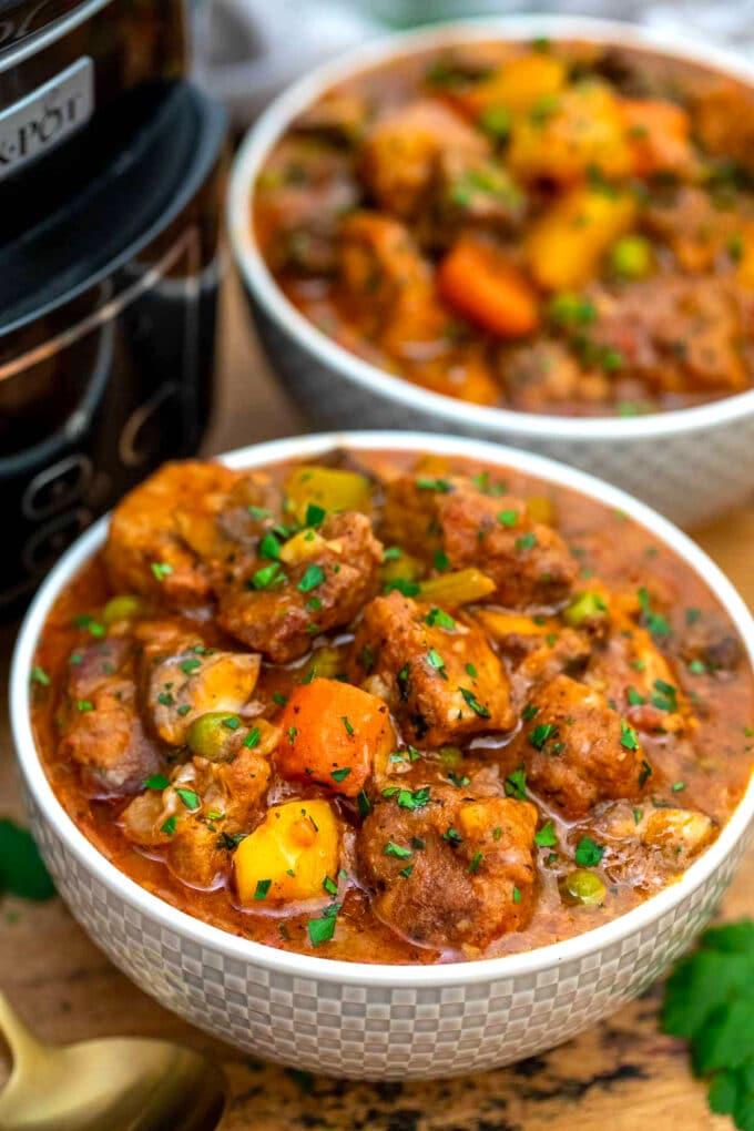 Picture of crockpot pork stew.