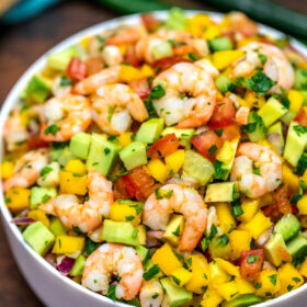 Picture of shrimp ceviche.
