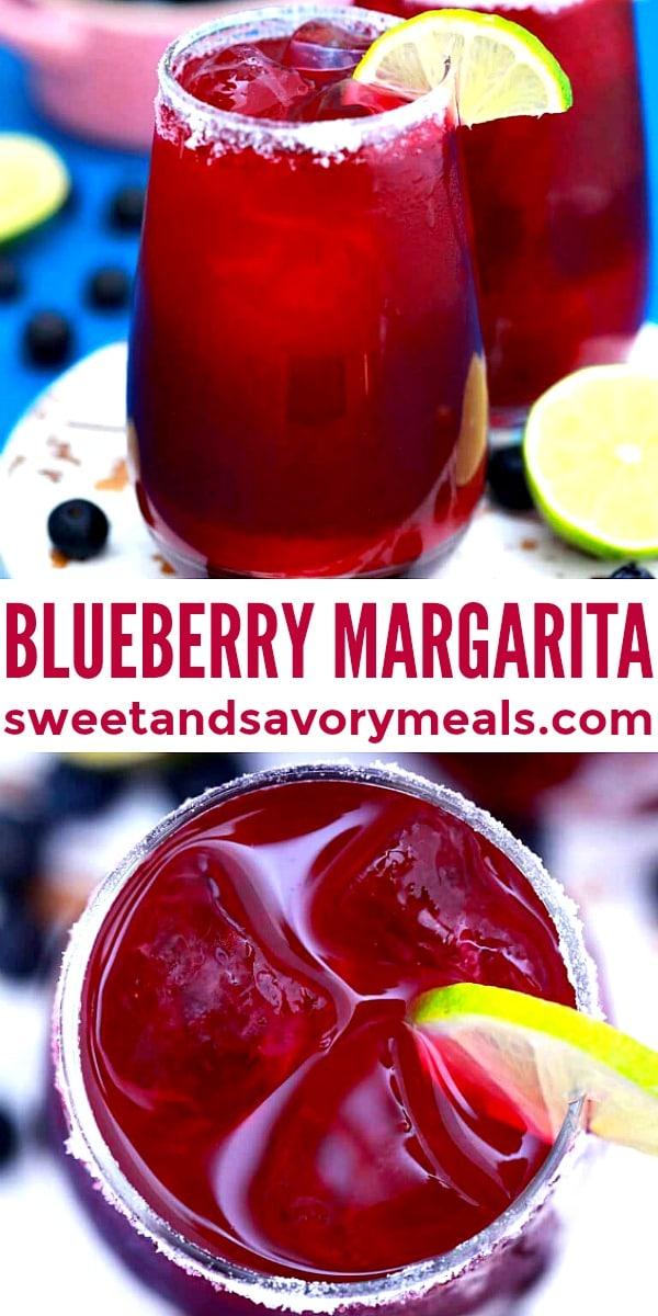 Photo of blueberry margarita.