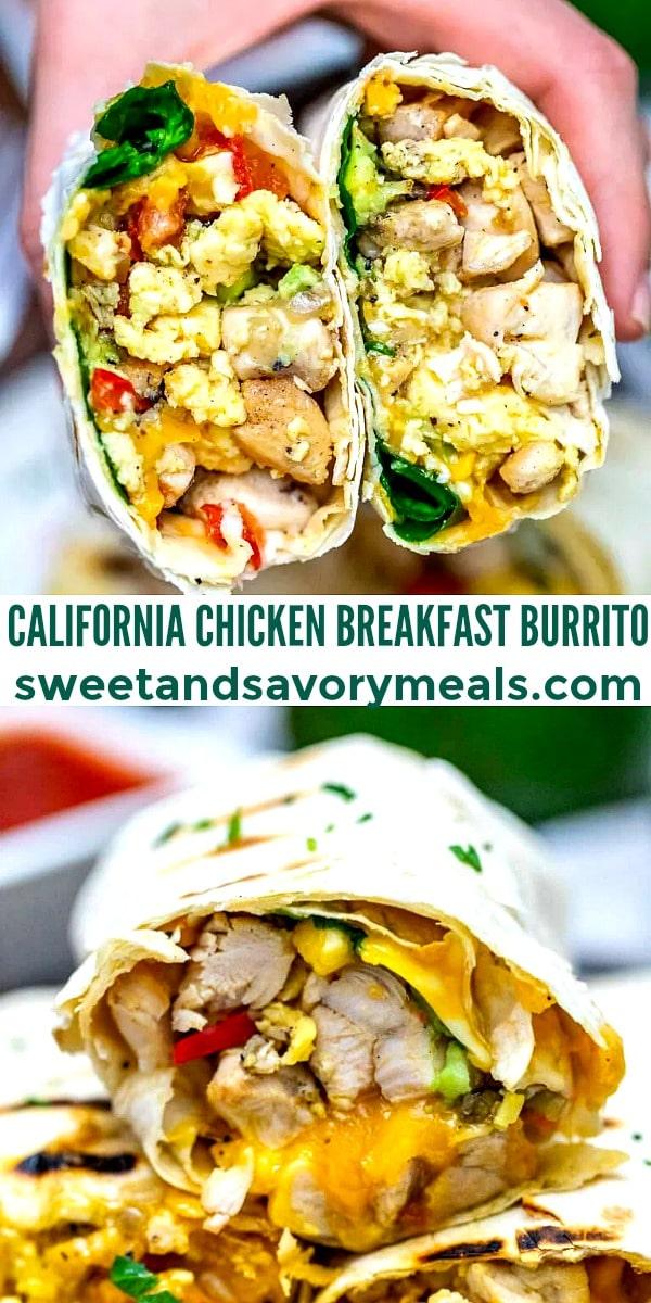 California Chicken Breakfast Burrito