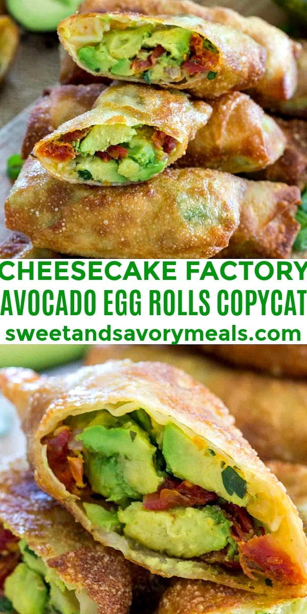 Picture of Cheesecake Factory Avocado Egg Rolls Copycat.