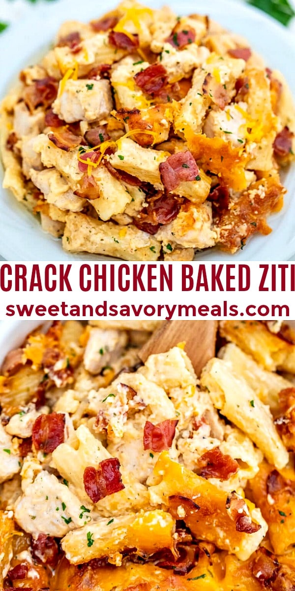 Crack Chicken Baked Ziti