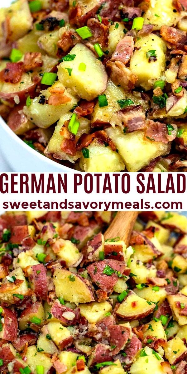 Photo of German potato salad.