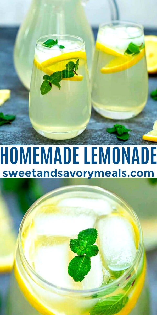 Photo of Homemade Lemonade.