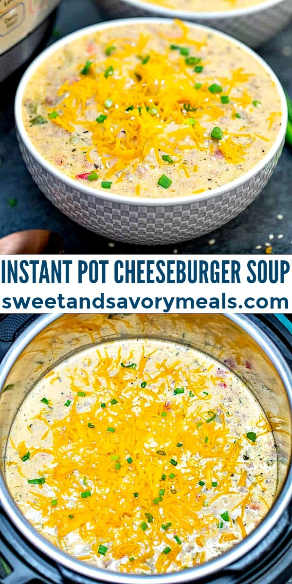 Instant Pot Cheeseburger Soup