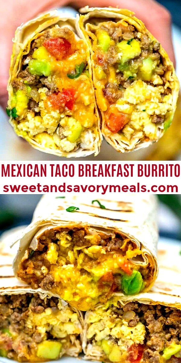 Mexican Taco Breakfast Burrito