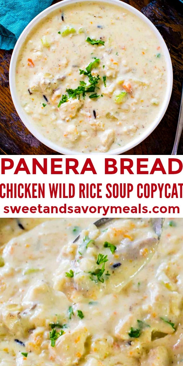 Photo of Panera Bread Chicken Wild Rice Soup Copycat.