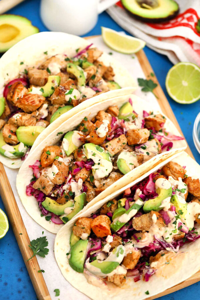 Image of chicken tacos.