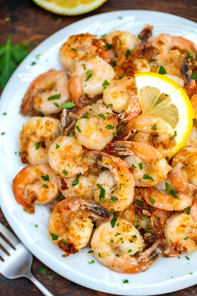 Picture of lemon pepper shrimp.