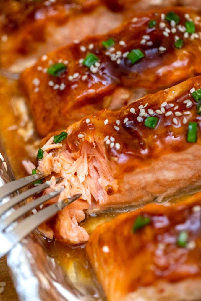 Photo of teriyaki salmon recipe.