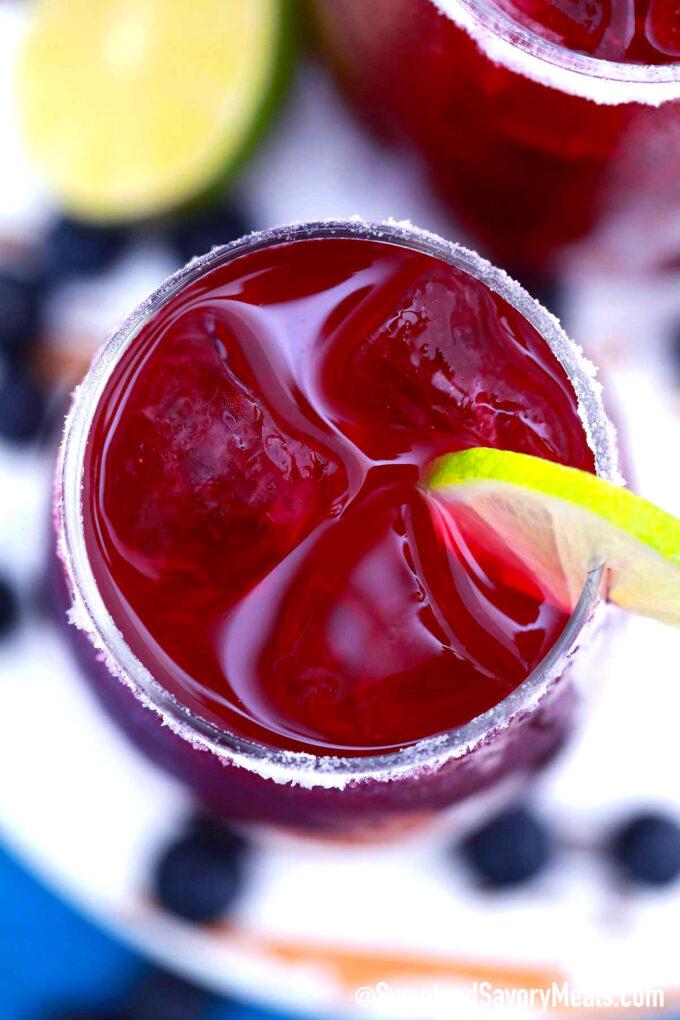 Image of blueberry margarita.