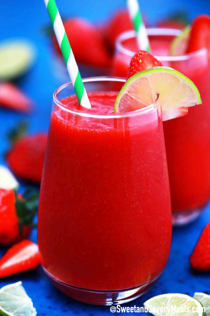 Photo of frozen strawberry daiquiri recipe.