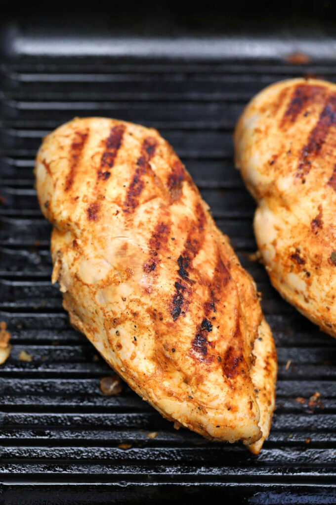 Photo of grilled chipotle chicken copycat.