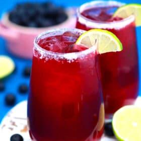 Homemade Blueberry Margarita