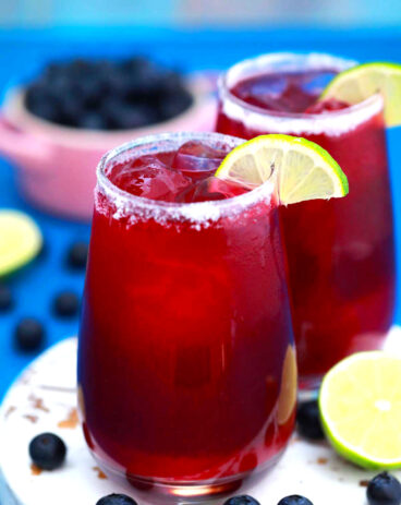 Homemade Blueberry Margarita