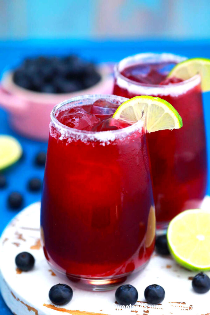 Picture of homemade blueberry margarita.