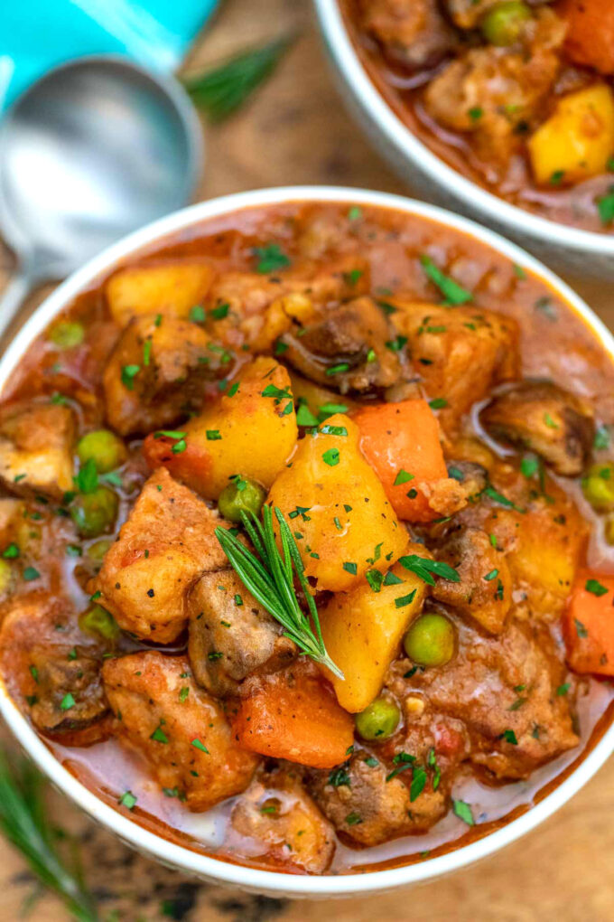 Image of pork stew in a bowl.