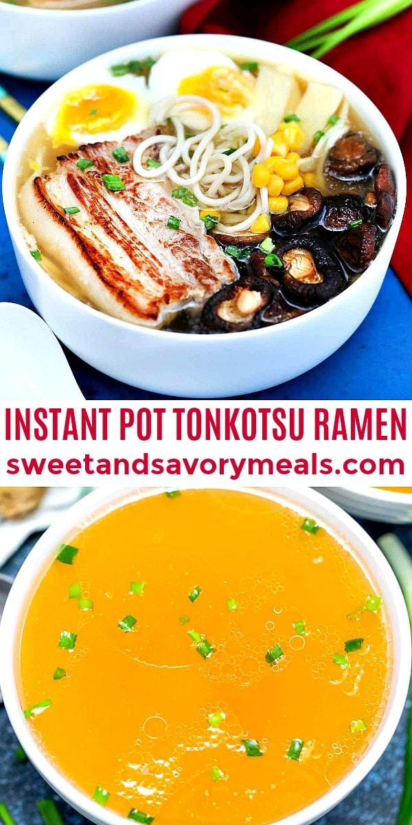 instant pot Tonkotsu Ramen