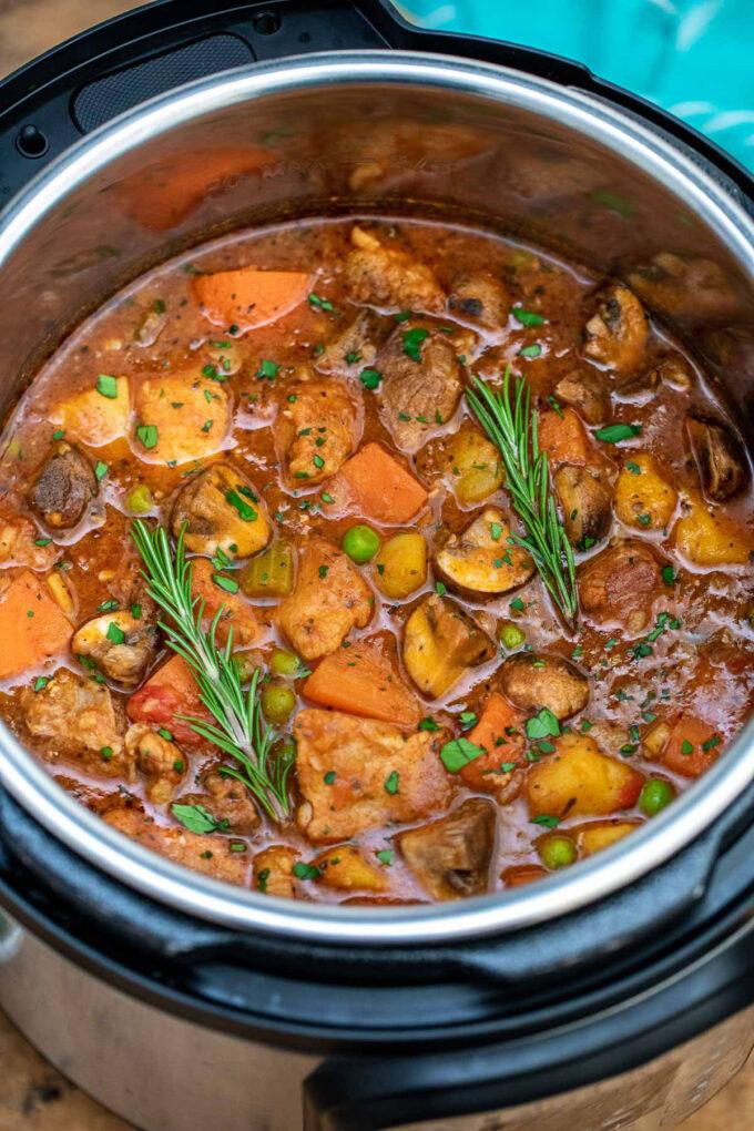 Image of instant pot pork stew.