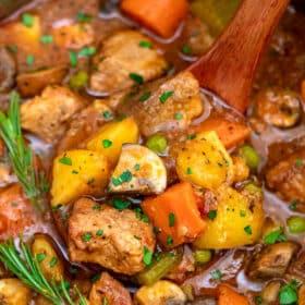 Photo of instant pot pork stew.