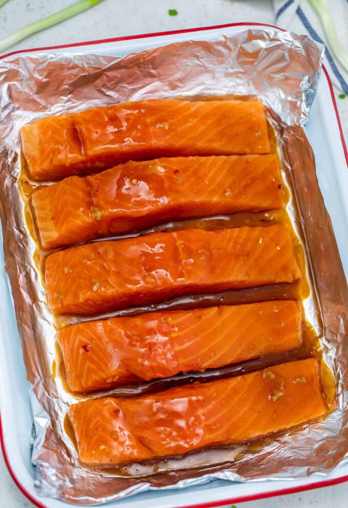 Image of teriyaki salmon marinade.