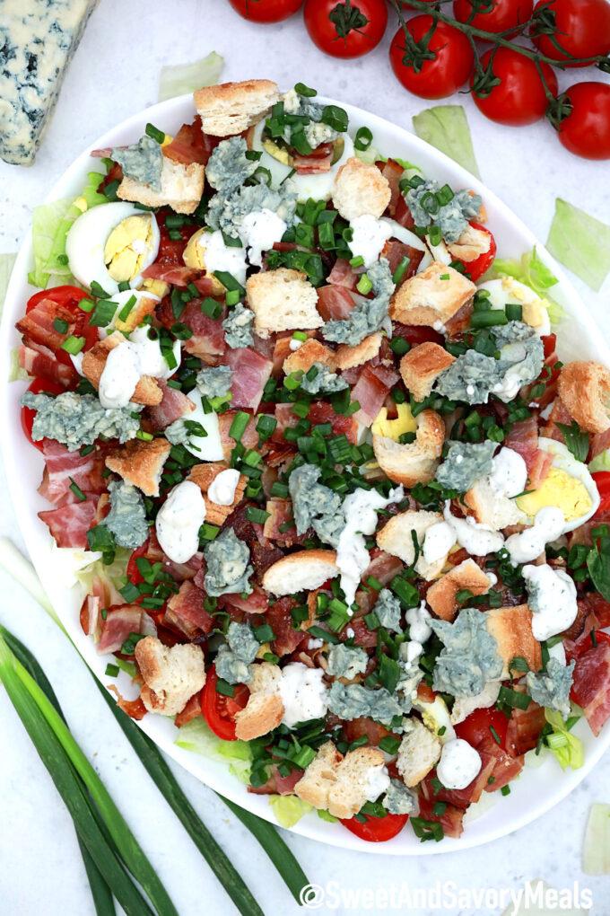 Image of BLT salad.