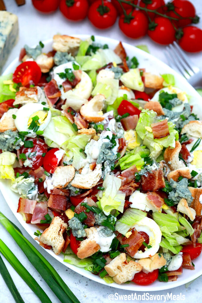 Photo of BLT Salad recipe.