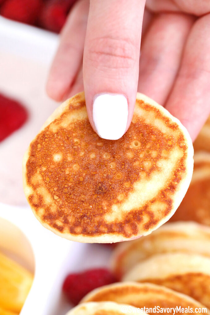 Image of a mini pancake.