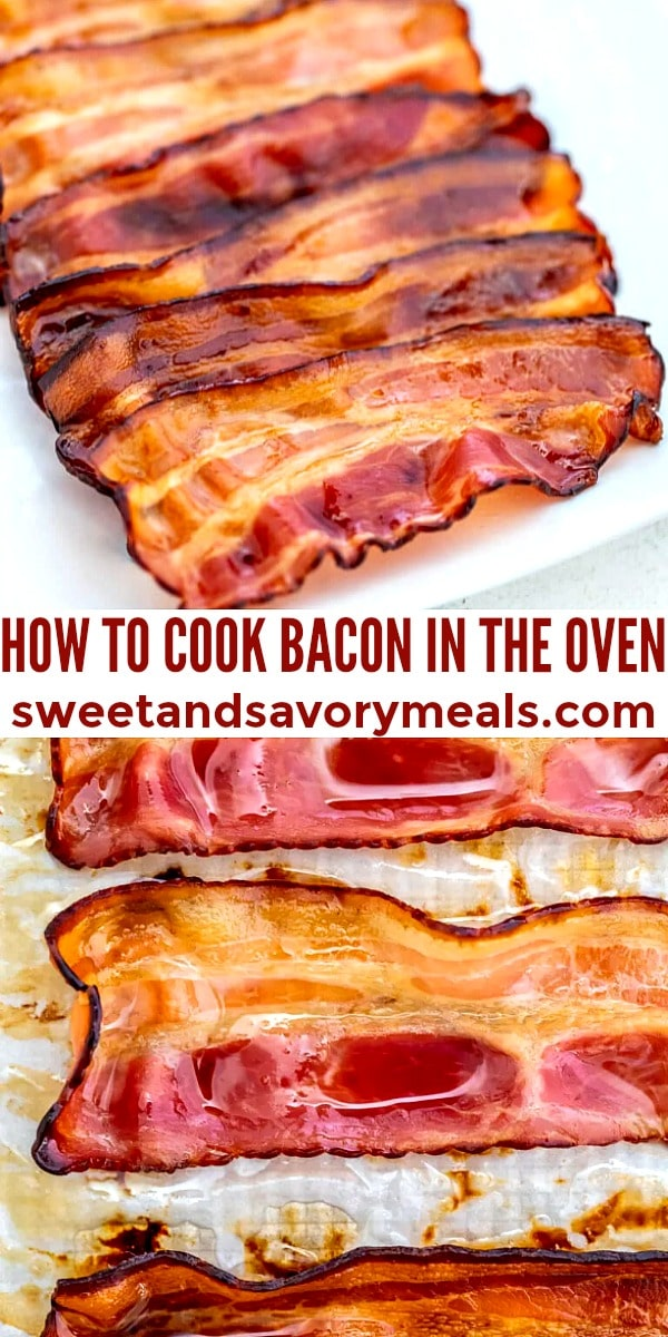 how to cook easyily bacon in the oven pin