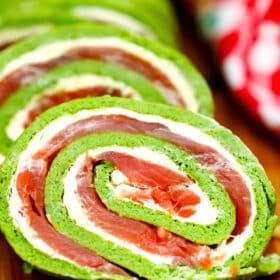 Keto Arugula Salmon Roll