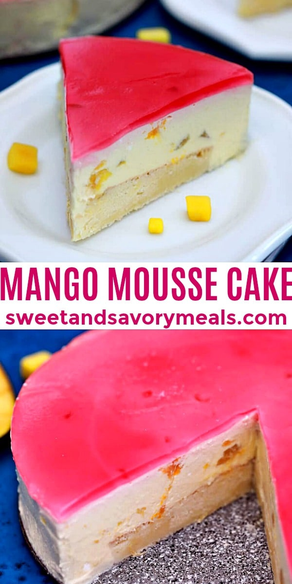 Easy Mango Mousse Cake pin