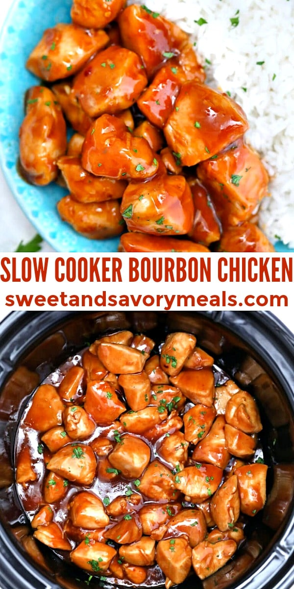 easy slow cooker bourbon chicken pin