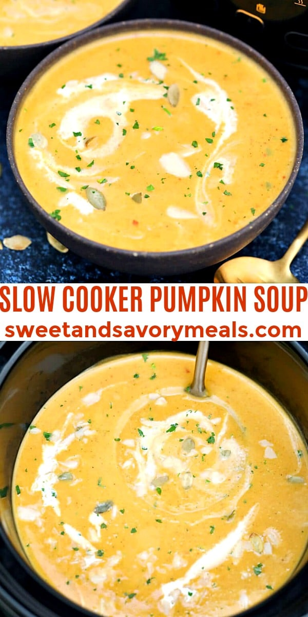 easy slow cooker pumpkin soup pin
